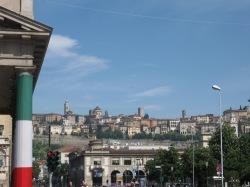 Bergamo's Città Alta seen from Città Bassa